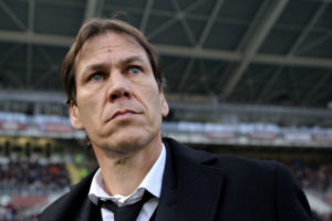 "Roma's French coach Rudi Garcia looks on during the Italian Serie A football match Torino Vs Roma on December 5, 2015 at the ""Olympic Stadium"" in Turin.  AFP PHOTO / MARCO BERTORELLO / AFP / MARCO BERTORELLO        (Photo credit should read MARCO BERTORELLO/AFP/Getty Images)"